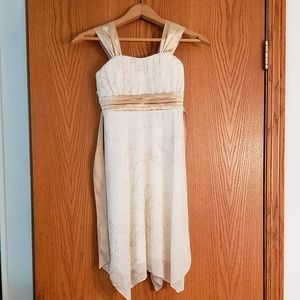 Lovely Cream Colored Formal Dress Girls Sz 8
